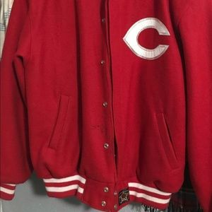 Cincinnati Reds letterman jacket
